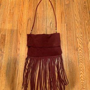 Burgundy Fringe Bag!!